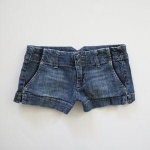 American Eagle Blue Jean Denim Shorts size 0